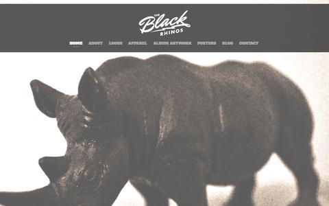 Screenshot of Home Page theblackrhinos.com - THE BLACK RHINOS - captured Sept. 30, 2014