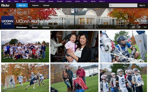 Screenshot of Flickr Page flickr.com - Flickr: UConn Alumni Association's Photostream - captured Nov. 2, 2014