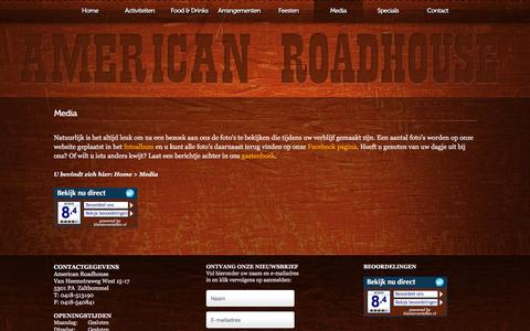 Screenshot of Press Page american-roadhouse.nl - Media - American Roadhouse - American Roadhouse - captured Feb. 6, 2016