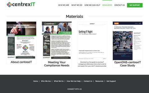 Screenshot of centrexit.com - Materials - centrexIT - captured March 19, 2016