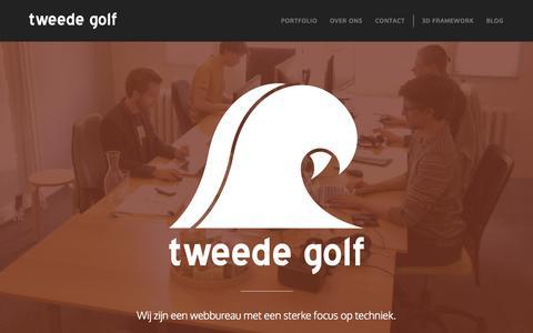 Screenshot of Home Page tweedegolf.com - tweede golf - captured June 18, 2015