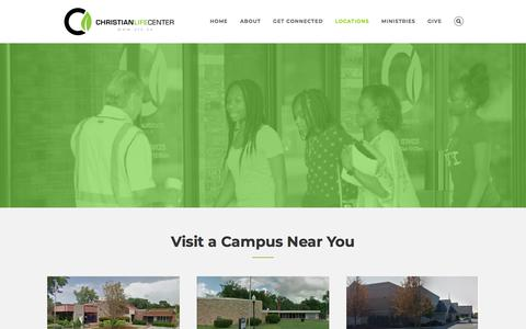 Screenshot of Locations Page clc.tv - Locations – Christian Life Center - captured Sept. 25, 2018