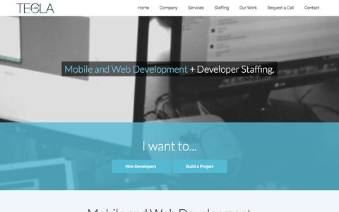 Screenshot of Services Page teclalabs.com - Mobile & Web Development Company - San Francisco | Tecla Labs - captured Aug. 19, 2016