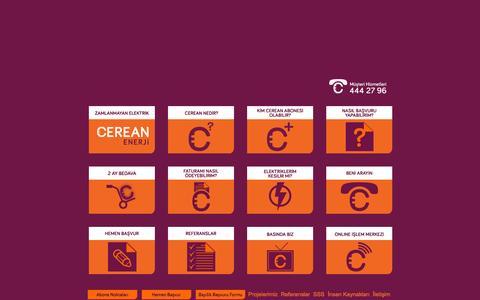 Screenshot of Home Page cerean.com.tr - Cerean - Ucuz Elektrik - captured Sept. 24, 2014