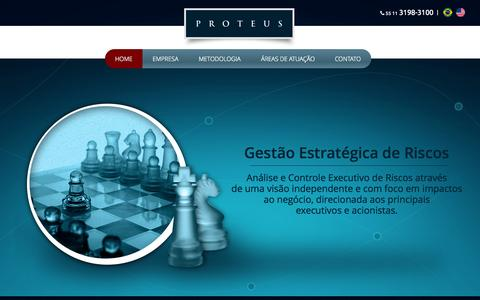 Screenshot of Home Page proteus.com.br - Proteus - captured Oct. 11, 2015