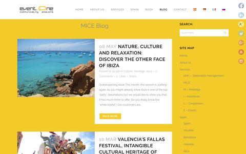 Screenshot of Press Page event-one.com - event.one DMC   DMC´s blog   event-one.com - captured Dec. 16, 2018