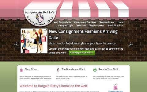 Screenshot of Home Page bargainbetty.net - Bargain Betty :: Home - captured Oct. 5, 2014