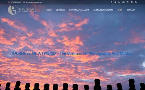 Screenshot of Blog kellymooney.com - Gail Mooney's Blog - Art & Commerce of Photography & Video - captured Feb. 12, 2016