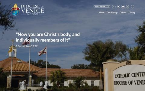 Screenshot of About Page dioceseofvenice.org - About - Diocese of Venice - captured Aug. 7, 2018