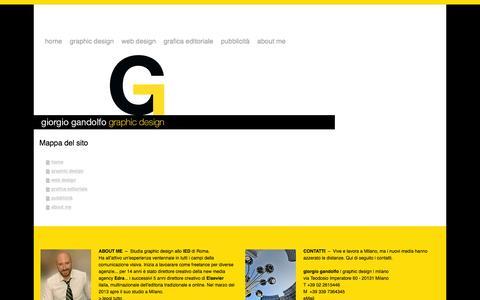 Screenshot of Site Map Page giorgiogandolfo.it - Mappa del sito - giorgio gandolfo | graphic design | milano - captured Oct. 3, 2014
