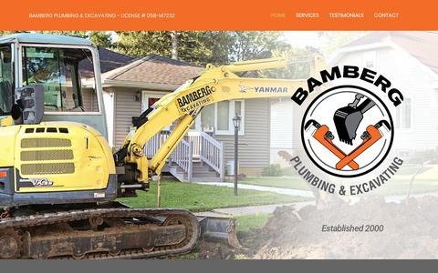Screenshot of Home Page bambergplumbing.com - Bamberg Plumbing & Excavating – Bamberg Plumbing & Excavating - captured Dec. 9, 2018