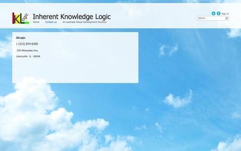 Screenshot of Contact Page iklogic.com - Contact us - captured Dec. 19, 2015