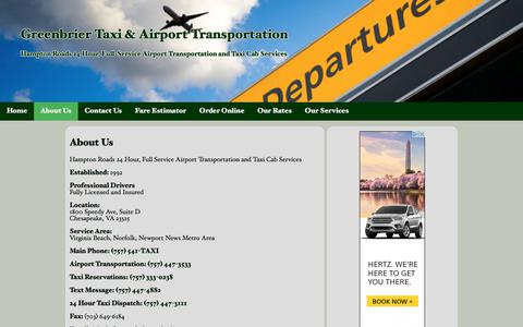 About Us | Greenbrier Taxi & Airport Transportation