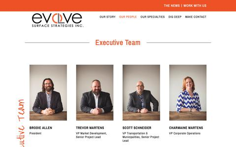 Screenshot of Team Page evolveinc.ca - Our People - Evolve - captured Sept. 30, 2018
