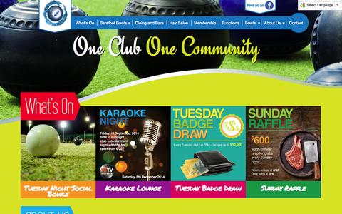 Screenshot of Home Page cabrabowls.com.au - Cabramatta Bowling Club - captured Jan. 16, 2015
