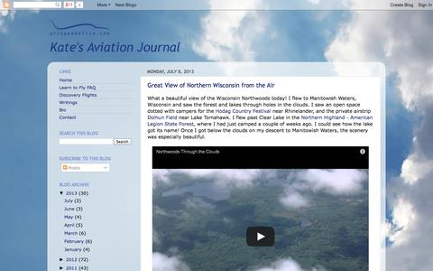 Screenshot of Blog airspeedalive.com - Kate's Aviation Journal - captured Oct. 4, 2014