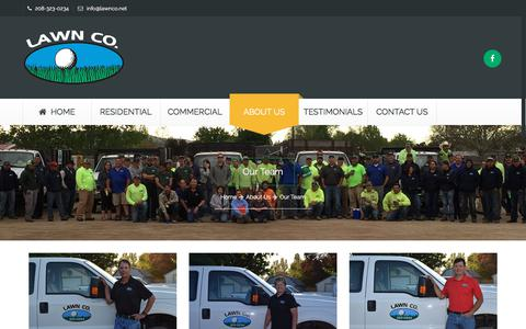 Screenshot of About Page lawnco.net - Boise Landscaping Team | Lawn Co of Idaho - captured July 16, 2018