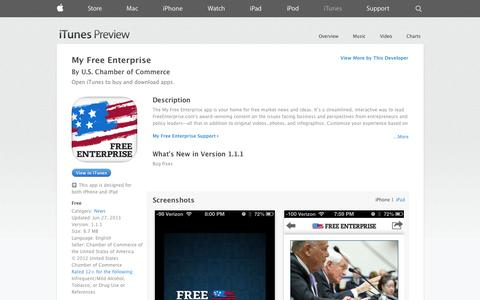 Screenshot of iOS App Page apple.com - My Free Enterprise on the App Store on iTunes - captured Oct. 23, 2014