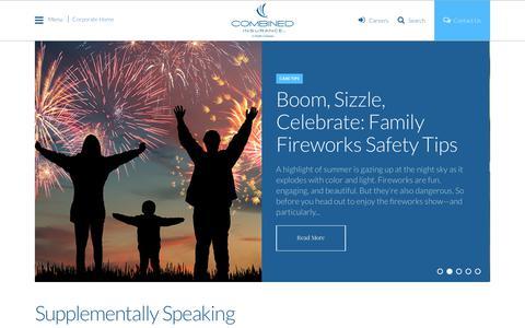 Screenshot of Blog combinedinsurance.com - Supplementally Speaking | Combined Insurance - captured July 7, 2017