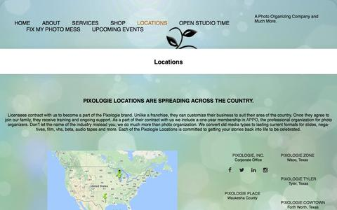 Screenshot of Locations Page pixologieinc.com - Pixologie Locations in the USA - captured May 18, 2017