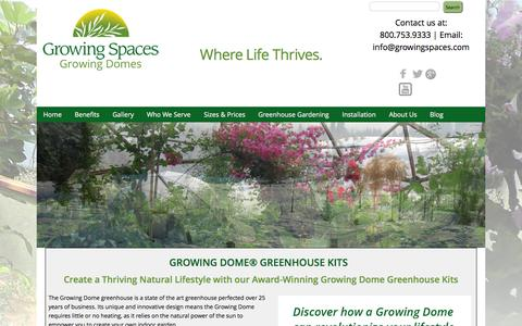 Screenshot of Home Page geodesic-greenhouse-kits.com - Geodesic Dome Greenhouses, Greenhouse Kits, Solar Greenhouses, Garden Green Houses, Home Greenhouses - captured June 18, 2015