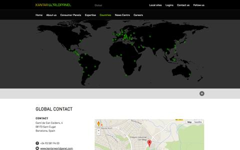 Screenshot of Contact Page kantarworldpanel.com - GLOBAL CONTACT - Countries - Global site - Kantar Worldpanel - captured Sept. 19, 2014