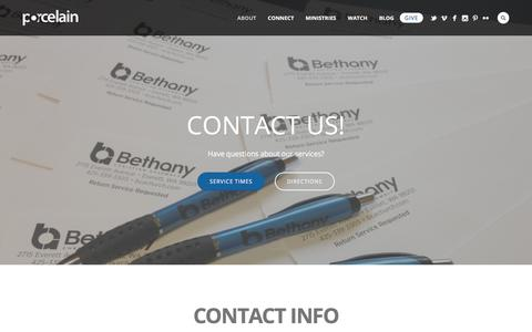 Screenshot of Contact Page bcachurch.com - Contact Us - Bethany Christian Assembly - captured Oct. 10, 2017