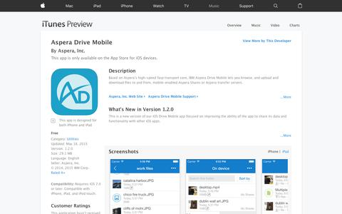 Aspera Drive Mobile on the App Store