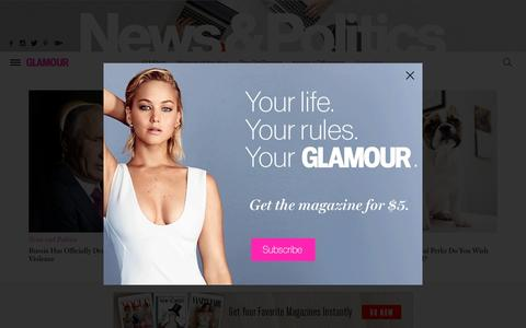 Screenshot of Press Page glamour.com - Inspired: career advice, women's issues, politics | Glamour - captured Feb. 8, 2017