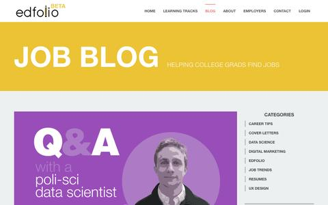 Screenshot of Blog edfolio.com - Blog | Edfolio - captured June 17, 2015