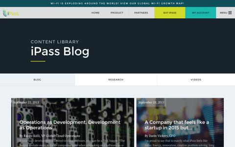 Screenshot of Blog ipass.com - Blog - iPass - captured Oct. 1, 2015