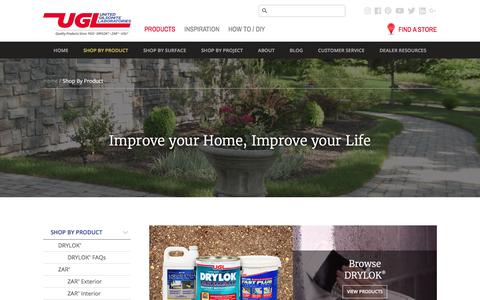 Screenshot of Products Page ugl.com - UGL | Shop by Product - captured Oct. 4, 2017