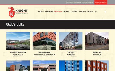 Screenshot of Case Studies Page knightwallsystems.com - Case Studies Archive - Knight Wall Systems - captured Aug. 9, 2016