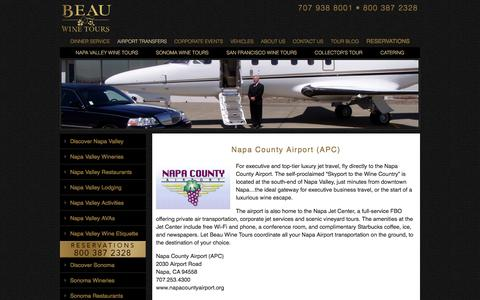 Transportation from Napa County Airport to Napa Valley or Sonoma