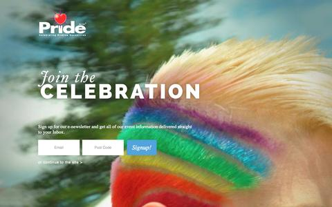 Screenshot of Home Page pridewa.com.au - Pride Western Australia - captured Oct. 3, 2014
