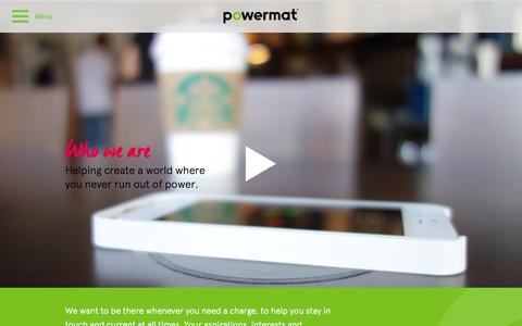 Screenshot of About Page powermat.com - About Us | Powermat - captured Oct. 28, 2014