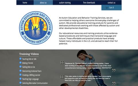 Screenshot of About Page autismcollection.com - ABA - Autism Behavior Training - captured Nov. 21, 2016