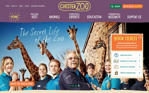 Screenshot of Home Page chesterzoo.org - Visit Chester Zoo - the UK's number one zoo - captured Jan. 26, 2016