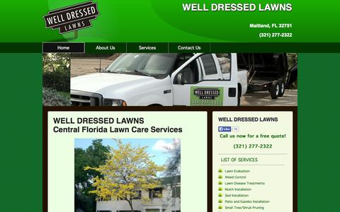 Screenshot of Home Page welldressedlawns.com - WELL DRESSED LAWNS Maitland Lawn Care - captured Sept. 30, 2014