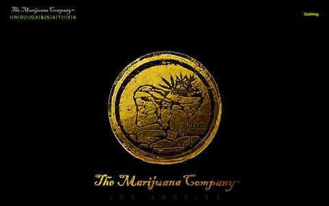 Screenshot of Home Page themarijuanacompany.net - The Marijuana Company   Indica and Sativa   Premium Grade Cannabis - captured Sept. 30, 2014
