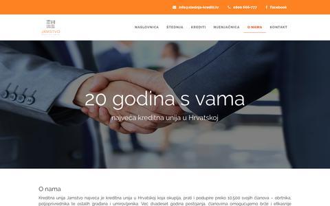 Screenshot of About Page stednja-krediti.hr - Kreditna unija Jamstvo - captured Oct. 16, 2018