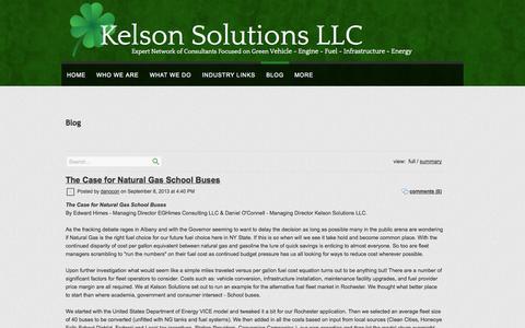 Screenshot of Blog kelsonsolutionsllc.com - Kelson Solutions LLC ::Alternative Fuel Consulting:: BLOG - captured Sept. 30, 2014