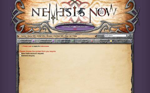 Screenshot of Signup Page nemesisnow.com - Nemesis Now - Trade Application - captured Oct. 27, 2014