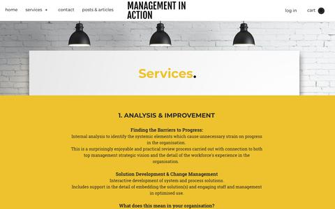 Screenshot of Services Page miaction.com.au - SERVICES - MANAGEMENT IN ACTION - captured Oct. 2, 2018