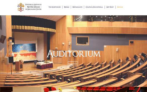 Screenshot of Services Page notredamecenter.org - notredamecenter | Services - captured Aug. 11, 2017