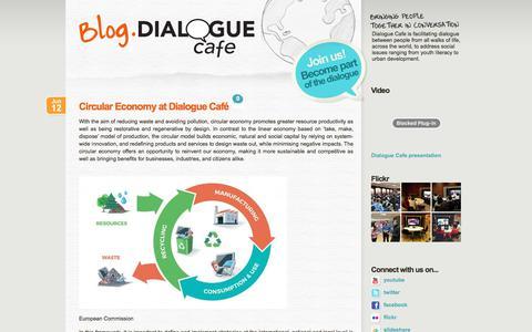 Screenshot of Blog dialoguecafe.org - Dialogue Cafe - captured Aug. 6, 2018