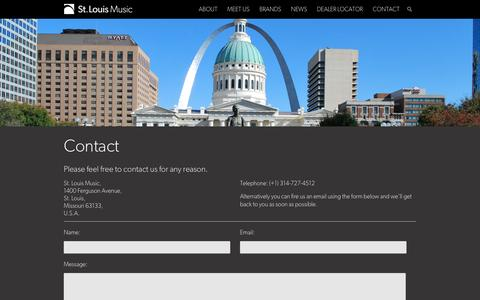 Screenshot of Contact Page stlouismusic.com - Contact - St. Louis Music - captured Oct. 7, 2014