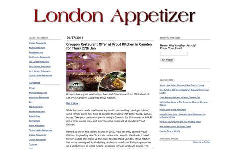Screenshot of Press Page londonappetizer.com - London Restaurants | London Guide: Restaurant News - captured Oct. 3, 2014