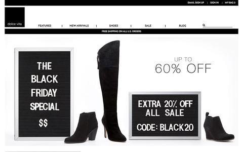 Screenshot of Home Page Support Page dolcevita.com - Dolce Vita® | High Fashion Footwear - captured Nov. 26, 2015