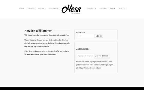 Screenshot of Login Page hess-fotografie.de - Hess Fotografie | Kundenlogin - Hess Fotografie - captured June 10, 2018